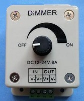 DC 12V ~ 24V 8A PWM Dimmer, DC Dimmer, Strip led light dimmer