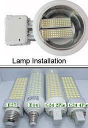 LED plug bulbs for downlights