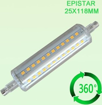 R7S LED bulbs with cover Quartz Double Ended replacement,10W - Click Image to Close