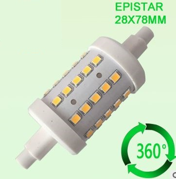 277V R7S LED bulbs, 5W LED Quartz Double Ended replacement