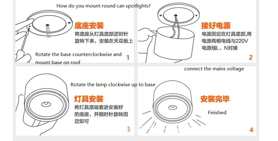 40W Ceiling mounted Round led can spotlights, lamps for marking - Click Image to Close