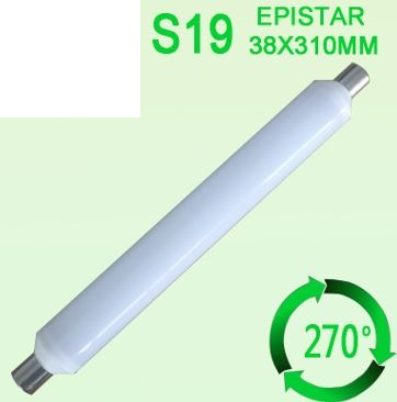 S19 led tube 18W as 36 watt CFL replacement - Click Image to Close