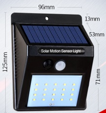 LED Solar Motion Sensor Lights, exterior outdoor wall lighting