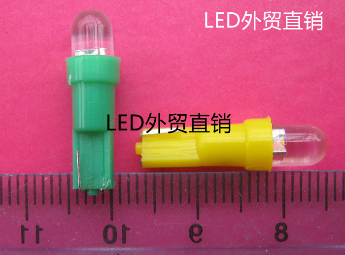 T5 WEDGE 0.2W LED Instrument Panel light bulb 12V 24V, colorful