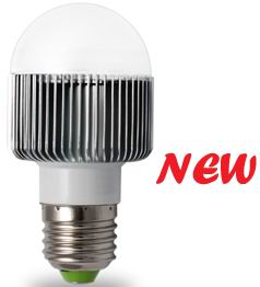 A15 (50mm), E27, 6 watt LED light bulb, Warm White,Frosted cover