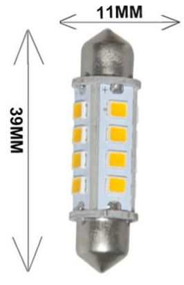 1.8 Watt automotive led lights, 39mm Festoon AUTO CAR LED bulbs