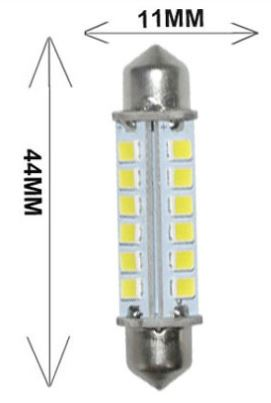 2.6 Watt automotive led lights, 44mm Festoon AUTO CAR LED bulbs