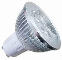 GU10 LED light bulbs, 5W using 4 pcs 1W LED, Warm white