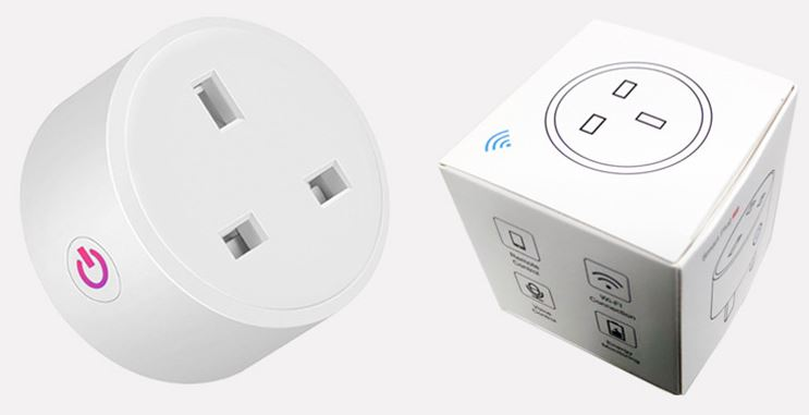 WiFi Smart U.K. Plug Outlets Work with Alexa Google Assistant