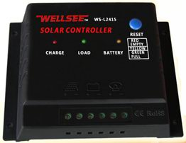 Solar street(garden)lighting controller, 12V and 24V, 6A/10A/15A