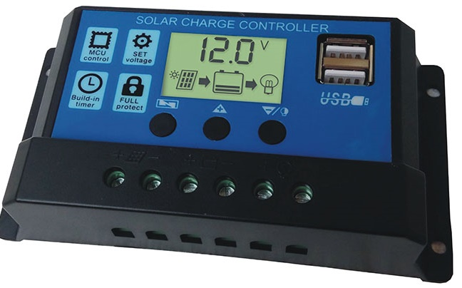 LCD PWM Solar Charge Controller 3 load mode + 2 USB